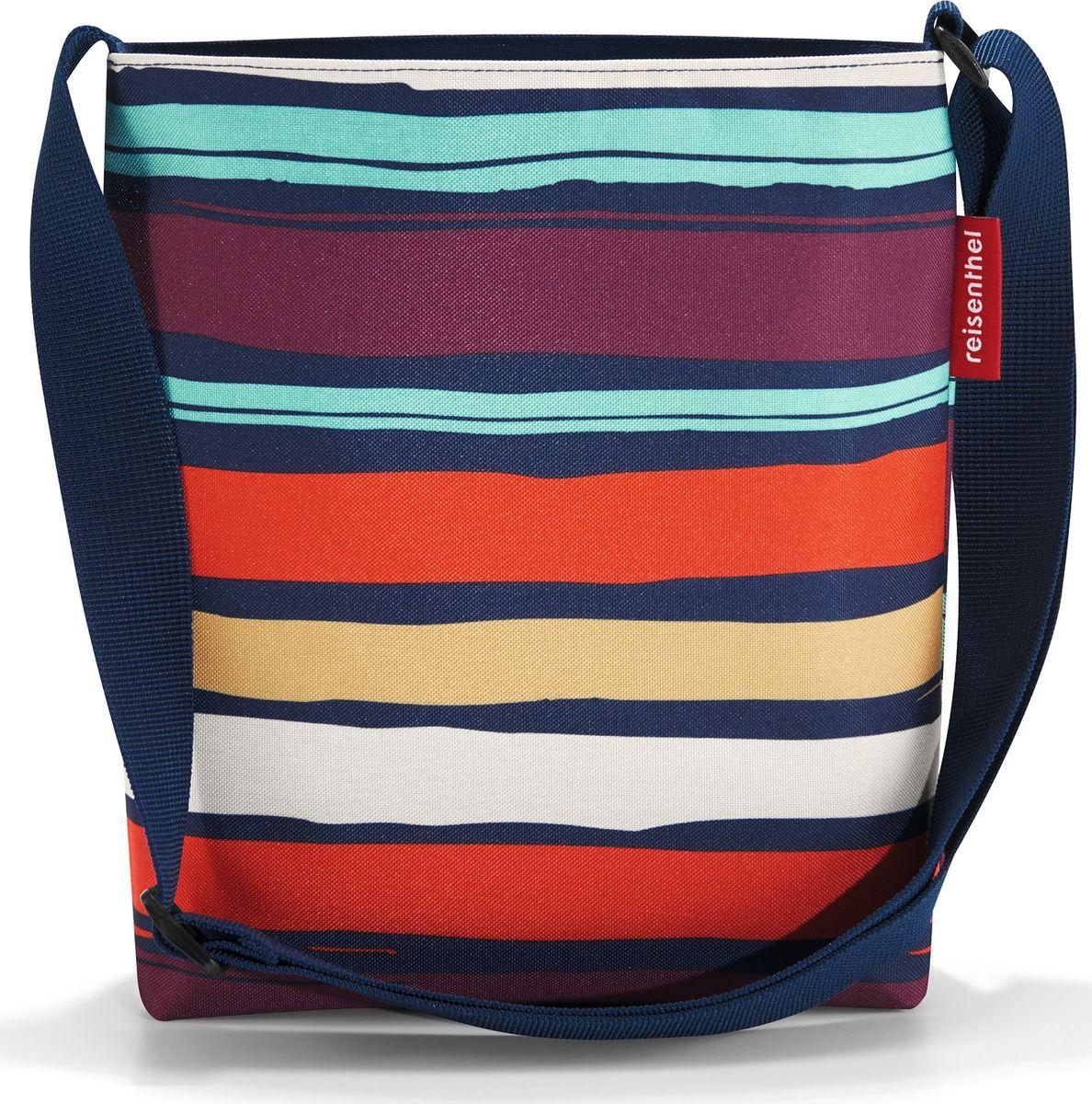 Сумка женская Reisenthel Shoulderbag S Artist Stripes, цвет: мультиколор. HY30583-47660-00504Простая, но очень вместительная сумка через плечо. Сочетание нескольких цветов позволяет носить сумку со множеством самых разных нарядов, не изменяя собственному стилю.- застегивается на молнию;- широкий удобный ремень регулируемой длины;- внутренний карман на молнии;