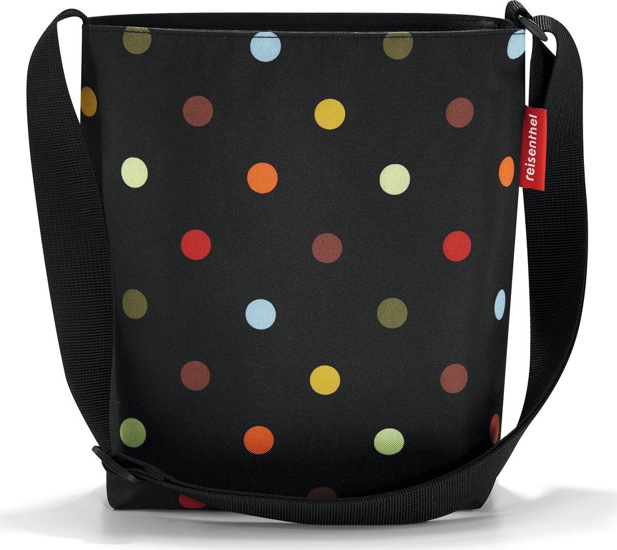 Сумка женская Reisenthel Shoulderbag S, цвет: черный. HY7009EQW-M710DB-1A1Простая, но очень вместительная сумка на плечо. Сочетание нескольких цветов позволяет носить сумку со множеством самых разных нарядов, не изменяя собственному стилю.Застегивается на молнию. Широкий удобный ремень регулируемой длины.