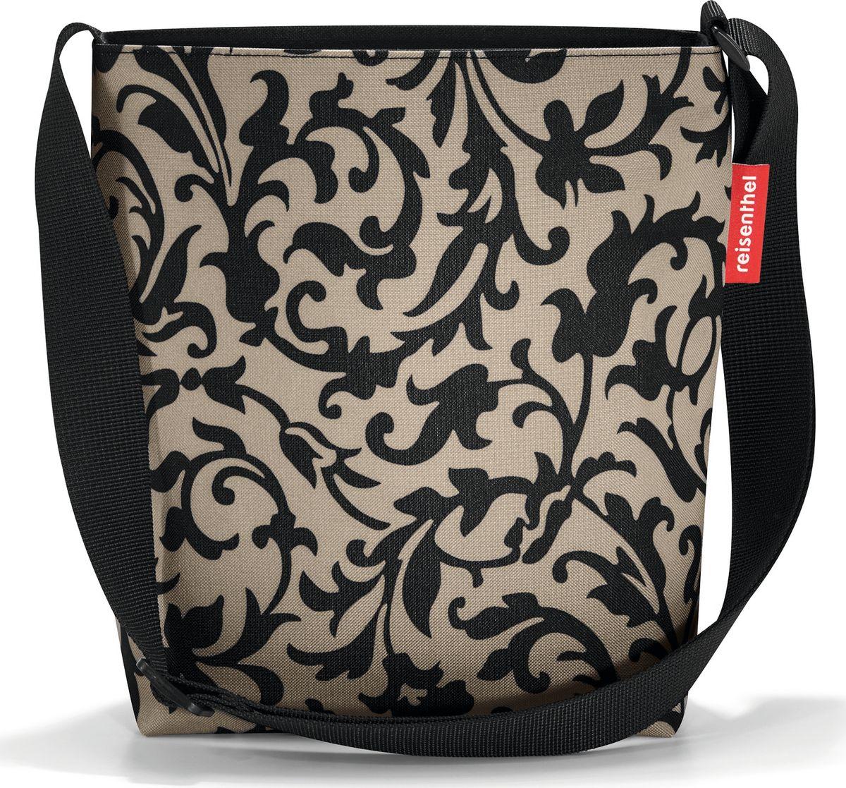 Сумка женская Reisenthel Shoulderbag S, цвет: бежевый. HY702710931-1Простая, но очень вместительная сумка на плечо. Сочетание нескольких цветов позволяет носить сумку со множеством самых разных нарядов, не изменяя собственному стилю.Застегивается на молнию. Широкий удобный ремень регулируемой длины.