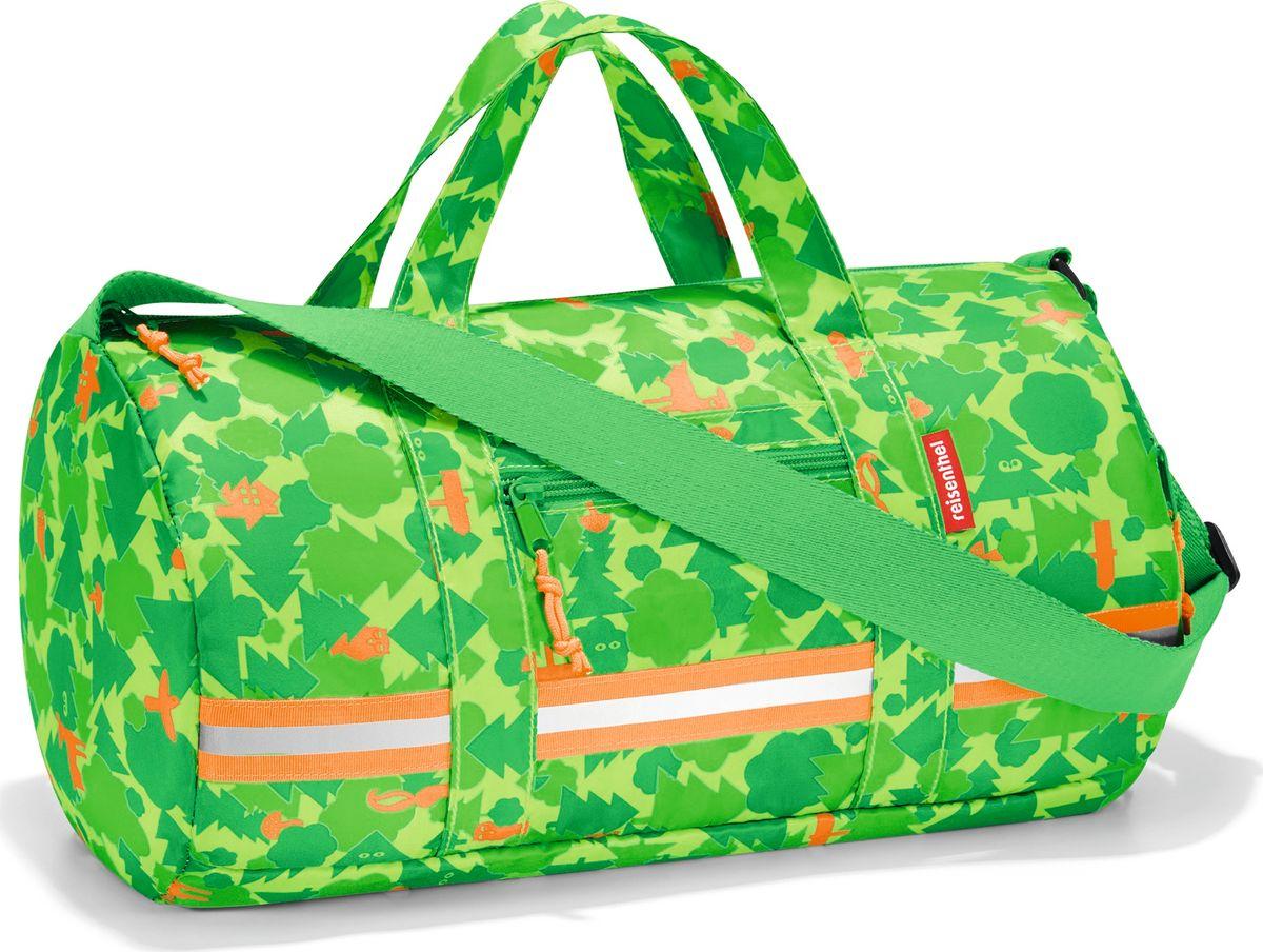 Сумка десткая Reisenthel Dufflebag S, цвет: зеленый. IH5035EQW-M710DB-1A1Универсальная сумка-трансформер, предназначенная для путешествий и спорта. Экстралегкая, она практически ничего не весит, так что ребенок будет нести в руках только ее содержимое. Для хранения сумку можно легко свернуть внутрь собственного внешнего кармана. Вместительное основное отделение, внутренний карман и два внешних кармана на молнии. Регулируемый наплечный ремень и удобные ручки для переноски, фиксируемые при помощи специальных застежек. Внутри сумки есть карабин для ключей и вставка, куда можно вписать имя ребенка. Яркая расцветка будет радовать глаз, а светоотражающие элементы обеспечат дополнительную безопасность. Материал: прочный водоотталкивающий полиэстер премиум класса. Объем – 10 литров.