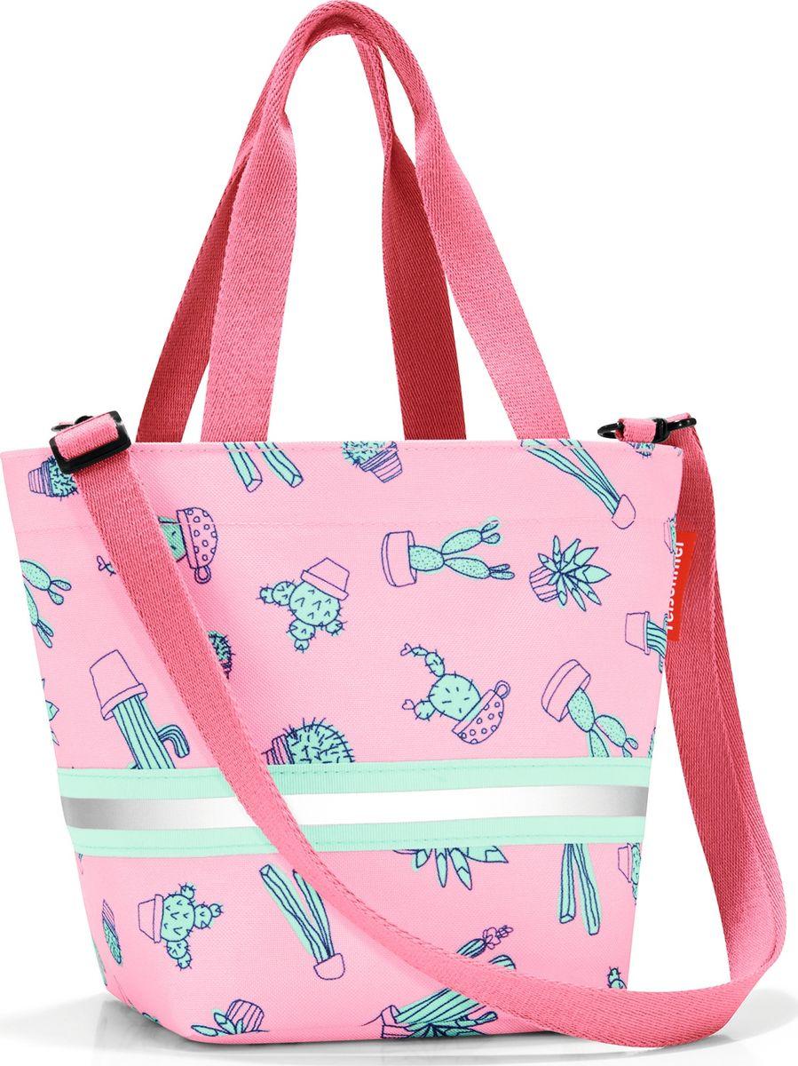 Сумка десткая Reisenthel Shopper XS, цвет: розовый. IK3055BM8434-58AEСимпатичная сумка на молнии для повседневного использования: широкие удобные лямки для переноски в руках и удобный плечевой ремешок с регулируемой длиной, который можно отстегнуть. Удобно брать с собой в магазин, особенно, если ваш ребенок хочет помочь вам с покупками: объем 4 литра позволит вместить все необходимые мелочи. Внутри сумки есть кармашек на молнии и специальная плашка, куда можно вписать имя ребенка. Светоотражающие элементы обеспечат дополнительную безопасность на улице. Материал: прочный водоотталкивающий полиэстер премиум класса.
