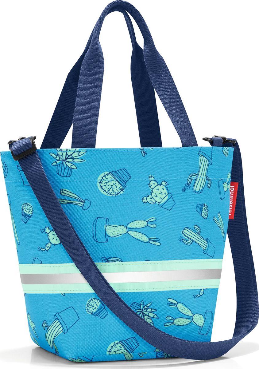 Сумка десткая Reisenthel Shopper XS, цвет: голубой. IK4049EQW-M710DB-1A1Симпатичная сумка на молнии для повседневного использования: широкие удобные лямки для переноски в руках и удобный плечевой ремешок с регулируемой длиной, который можно отстегнуть. Удобно брать с собой в магазин, особенно, если ваш ребенок хочет помочь вам с покупками: объем 4 литра позволит вместить все необходимые мелочи. Внутри сумки есть кармашек на молнии и специальная плашка, куда можно вписать имя ребенка. Светоотражающие элементы обеспечат дополнительную безопасность на улице. Материал: прочный водоотталкивающий полиэстер премиум класса.