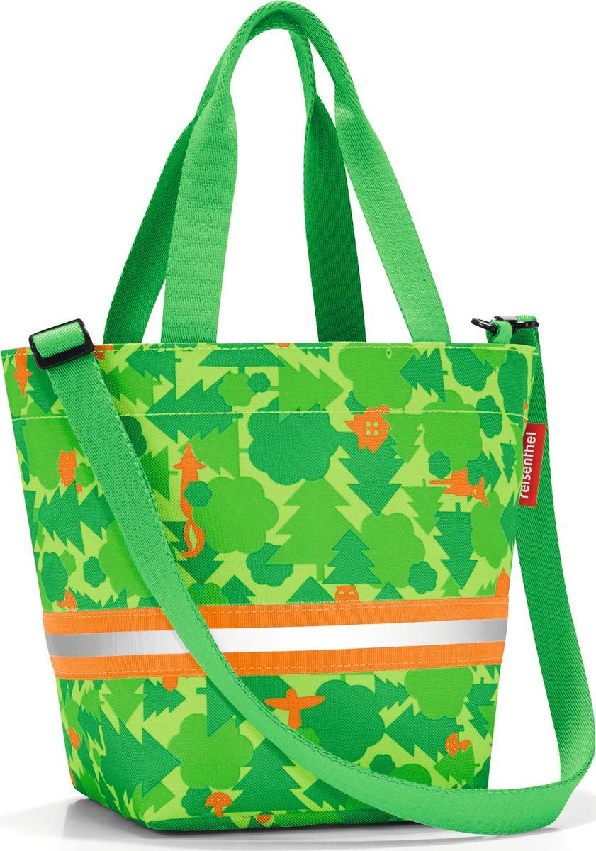 Сумка десткая Reisenthel Shopper XS, цвет: зеленый. IK5035747998-101Симпатичная сумка на молнии для повседневного использования: широкие удобные лямки для переноски в руках и удобный плечевой ремешок с регулируемой длиной, который можно отстегнуть. Удобно брать с собой в магазин, особенно, если ваш ребенок хочет помочь вам с покупками: объем 4 литра позволит вместить все необходимые мелочи. Внутри сумки есть кармашек на молнии и специальная плашка, куда можно вписать имя ребенка. Светоотражающие элементы обеспечат дополнительную безопасность на улице. Материал: прочный водоотталкивающий полиэстер премиум класса.
