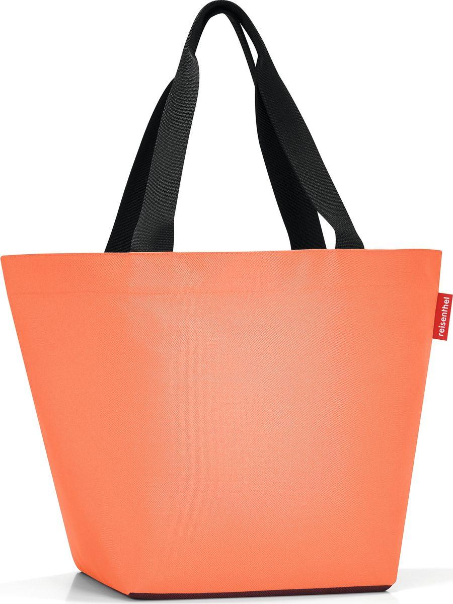 Сумка женская Reisenthel Shopper M, цвет: оранжевый. ZS3054EQW-M710DB-1A1Отличная сумка для похода за продуктами: широкие удобные лямки распределяют нагрузку на плече, а объем 15 литров позволяет вместить все самое нужное. Застегивается на молнию. Внутри - кармашек на молнии для мелочей. Специальное широкое днище для большей вместимости.