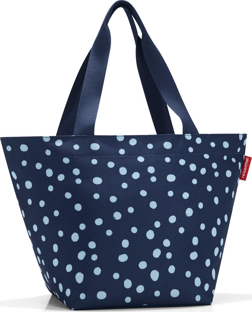 Сумка женская Reisenthel Shopper M, цвет: синий. ZS4044BM8434-58AEОчень комфортная сумка для походов за продуктами и для повседневного использования:- широкие удобные лямки равномерно распределяют нагрузку на плече;- застегивается на молнию;- внутри предусмотрен кармашек на молнии для мелочей;- специальное широкое днище для большей вместимости;- объем – 15 литров.