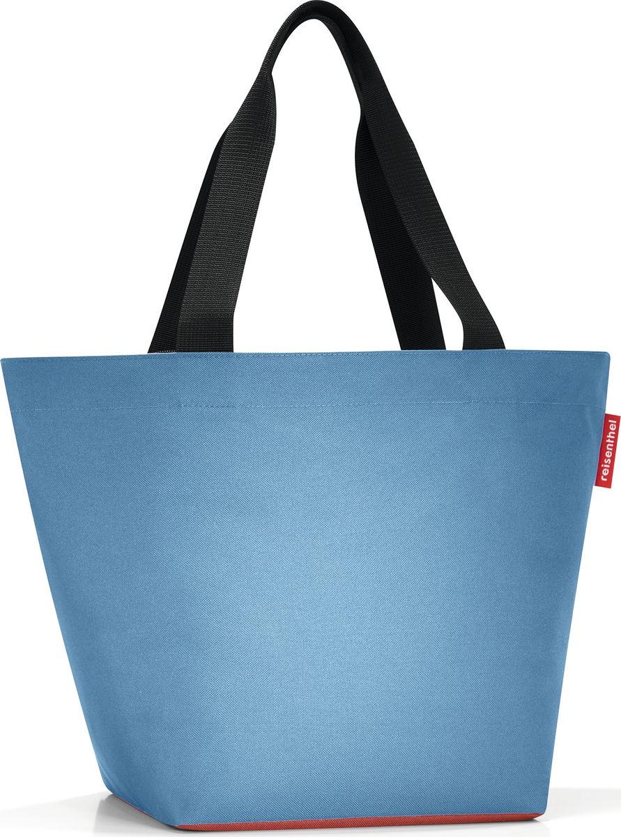 Сумка женская Reisenthel Shopper M, цвет: голубой. ZS4047BM8434-58AEОтличная сумка для похода за продуктами: широкие удобные лямки распределяют нагрузку на плече, а объем 15 литров позволяет вместить все самое нужное. Застегивается на молнию. Внутри - кармашек на молнии для мелочей. Специальное широкое днище для большей вместимости.