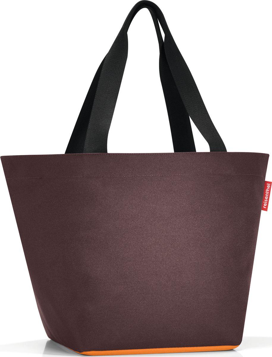 Сумка женская Reisenthel Shopper M, цвет: шоколадный. ZS6036KV996OPY/MОтличная сумка для похода за продуктами: широкие удобные лямки распределяют нагрузку на плече, а объем 15 литров позволяет вместить все самое нужное. Застегивается на молнию. Внутри - кармашек на молнии для мелочей. Специальное широкое днище для большей вместимости.