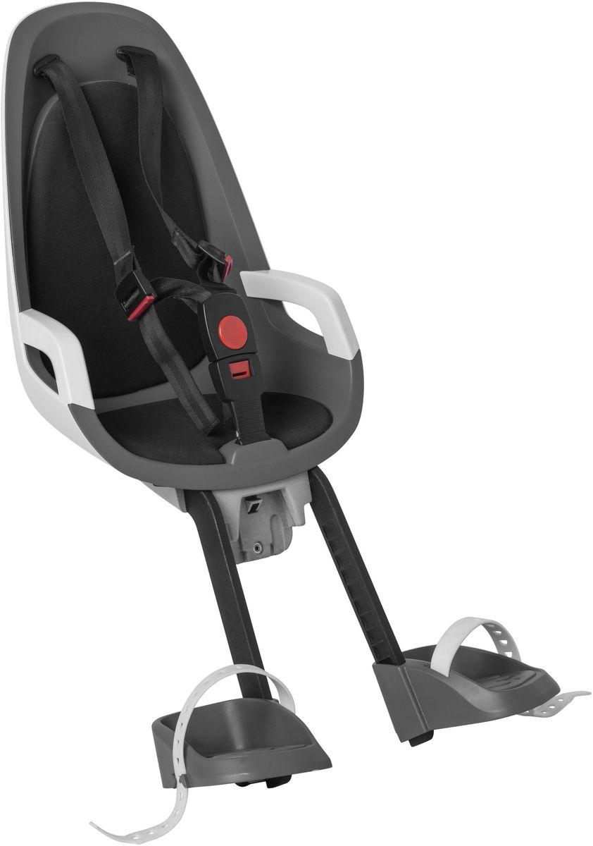 Детское велокресло Hamax Caress Observer, цвет: серый, белый, черныйRivaCase 8460 blackДетское велосипедное кресло Hamax Caress Observer рассчитан на перевозку детей от 9 месяцев и по весу не превышающих 15 кг. Представленное кресло крепится перед рулем.Hamax Caress Observer позволяет ребенку видеть перед собой полную картину происходящего. Установка кресла производится на рулевую колонку. Для крепления предусмотрен специальный кронштейн. Труба должна быть от 22 до 40 мм.Велокресло Hamax удобное, с мягкой вставкой и оборудованное ремнями безопасности. Защелка у ремней надежная. Самостоятельно ребенок не сможет расстегнуть застежку. Опоры для ног регулируются по высоте.Детское велокресло имеет небольшой вес- всего 4,3 кг. Позволяет брать ребенка с собой на велосипедные прогулки. Особенности:Крепление для передней части велосипедаХороший обзор для ребенкаРемни безопасностиНадежный замокМягкий вкладышОпоры для ног с регулировкойКрепление для труб от 22 до 40 мм