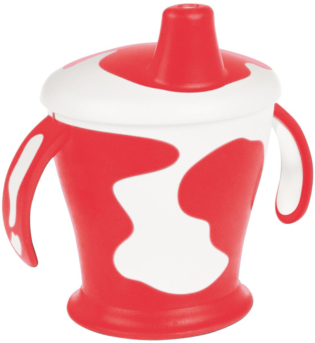 Canpol Babies Поильник-непроливайка Коровка с ручками цвет красный 250 мл поильник непроливайка canpol babies 250 мл