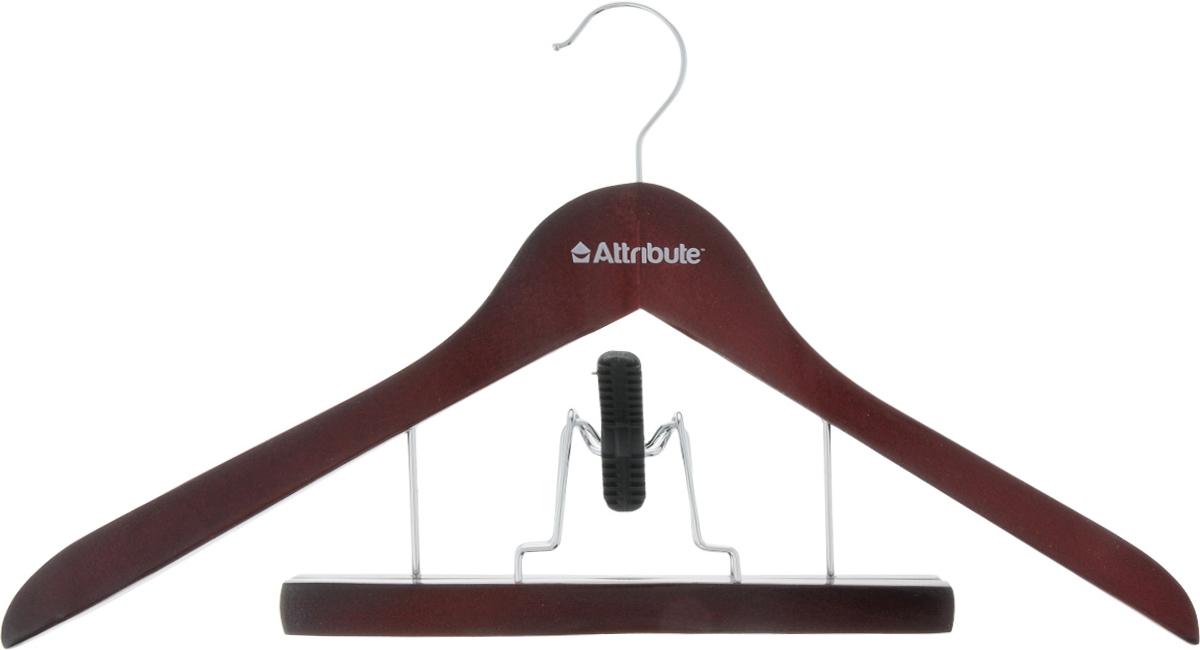 Вешалка для костюма Attribute Hanger Redwood, с деревянным зажимом для брюк, длина 44 см1004900000360Вешалка для костюма Attribute Hanger выполнена из дерева с металлическим крючком. Деревянный зажим для брюк располагается на металлических креплениях и имеет специальные накладки, чтобы не повредить ткань. Длина вешалки: 44 см.