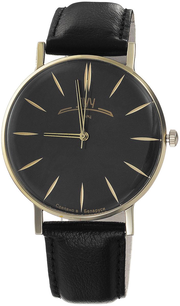 Наручные часы мужские Луч Ретро, цвет: черный, металлик, золотистый. 331727585BM8434-58AEЛаконичные мужские кварцевые часы в ретро стилистике Луч Ретро с японским механизмом Miyota заставят заинтересоваться. Круглый корпус, прикрытый силикатным стеклом имеет покрытие из нитрида циркония - гипоаллергенного материала сохраняющего полезные свойства циркония. Ремешок выполнен из натуральной кожи. Часы выдерживают воздействие многократных ударов с ускорением 150м/с при длительности ударов от 2 до 15 м/с. Продолжительность непрерывной работы 12 месяцев.