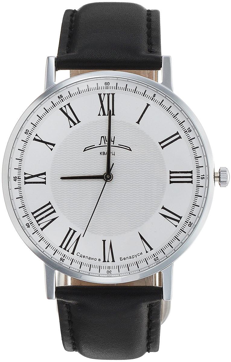 Наручные часы мужские Луч Ретро, цвет: серебристый, белый, черный. 71731768BM8434-58AEСдержанные мужские кварцевые часы в ретро стилистике Луч Ретро с японским механизмом Miyota не оставят вас без внимания. Круглый корпус, прикрытый минеральным устойчивым к царапинам стеклом, имеет покрытие из хрома. Ремешок выполнен из натуральной кожи. Часы выдерживают воздействие многократных ударов с ускорением 150м/с при длительности ударов от 2 до 15 м/с. Продолжительность непрерывной работы 12 месяцев.
