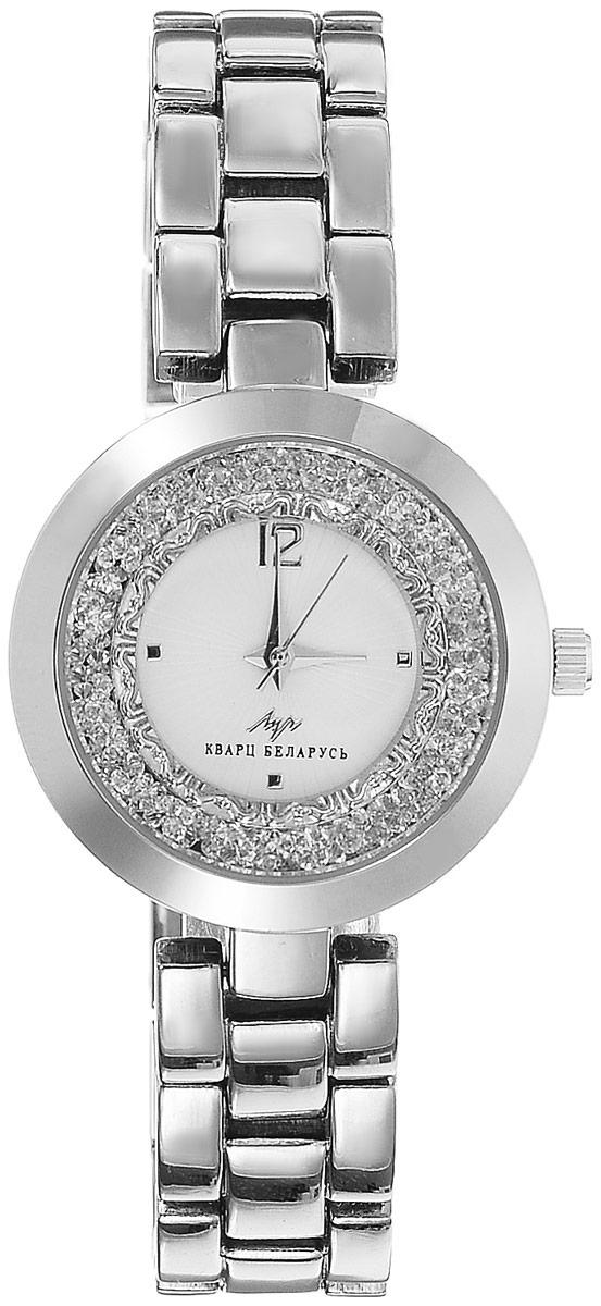 Наручные часы женские Луч, цвет: серебристый, слоновая кость. 729107321BM8434-58AEРоскошные женские кварцевые часы Луч с японским механизмом Miyota исполнены в богемном стиле. Металлический браслет на звеньях подчеркивают аристократичность, а свободно перемещающиеся по периметру внешней окружности циферблата кристаллы создают изысканный вид. Часы выдерживают воздействие многократных ударов с ускорением 150м/с при длительности ударов от 2 до 15 м/с. Имеют круглый металлический корпус с плоским минеральным устойчивым к царапинам стеклом. Продолжительность непрерывной работы 12 месяцев. Сменная батарея.