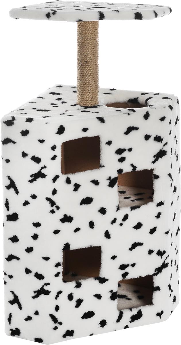 Домик-когтеточка Меридиан Муравейник, цвет: далматин, 68 х 44 х 125 см0120710Домик-когтеточка Муравейник, джут 680х440х1250 далматин
