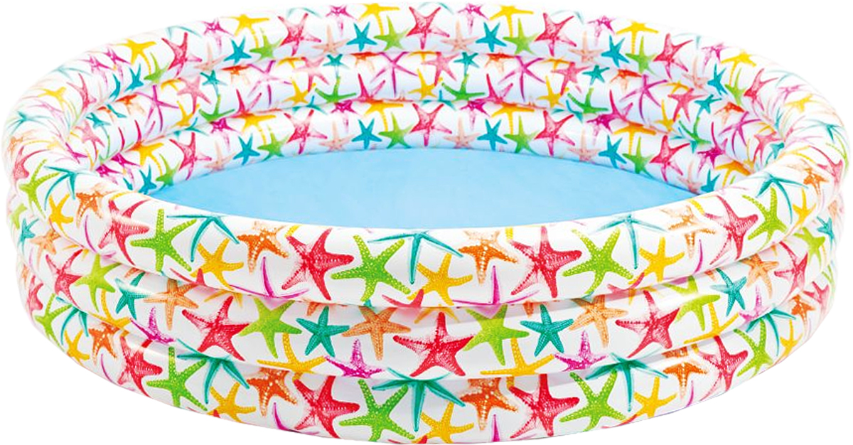 Бассейн надувной Intex Морские звезды, 168 х 168 х 41см