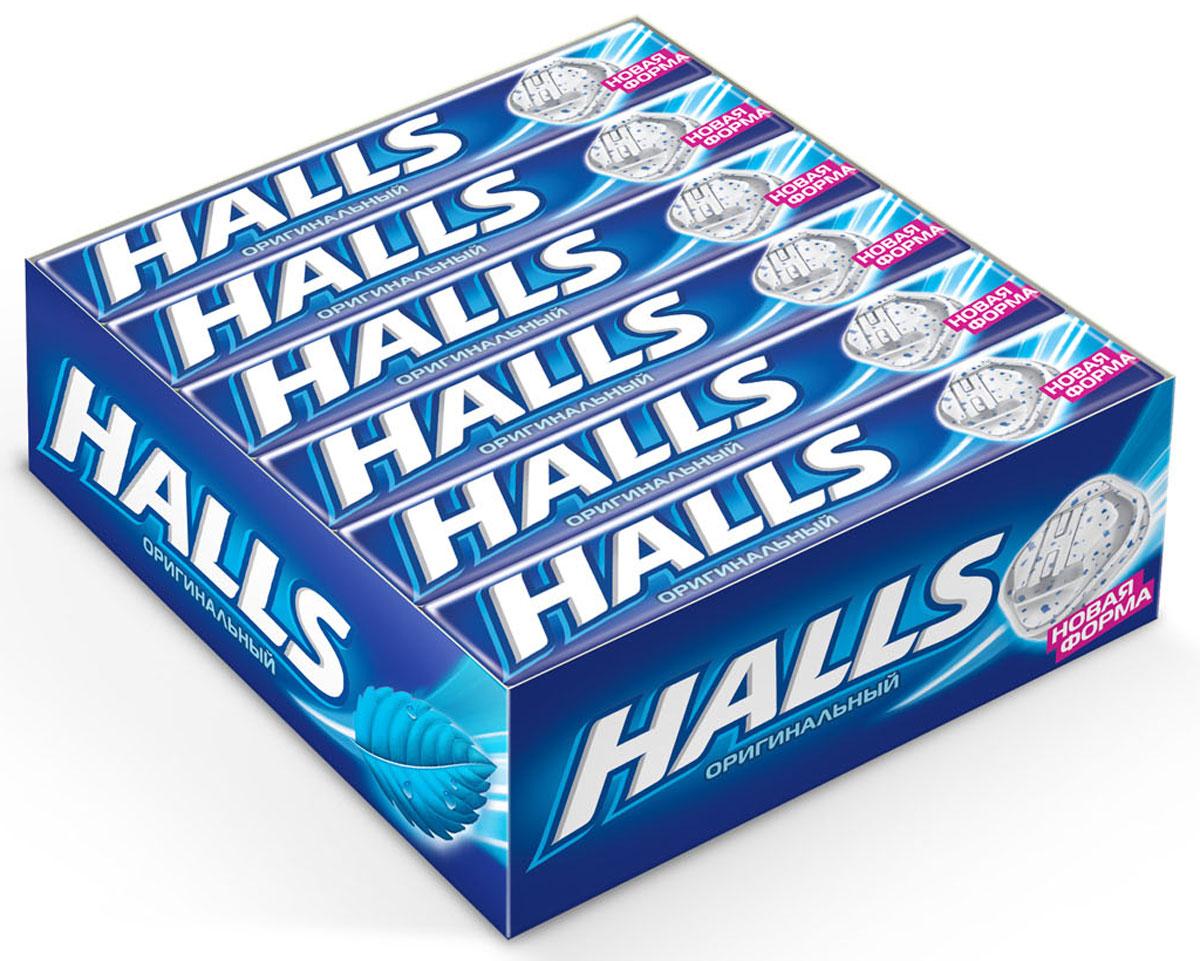 Halls с оригинальным вкусом карамель леденцовая, 12 пачек по 25 г0120710Мощный освежающий эффект Halls возникает благодаря сочетанию ментола и эвкалипта. Он сродни глотку свежего воздуха в любой ситуации, когда это необходимо – бодрит, освежает и позволяет сосредоточиться на главном. В напряженные моменты, когда нужна эмоциональная встряска, когда одолевает усталость, когда просто нужно перевести дыхание – попробуйте Halls и дышите свободно.Уважаемые клиенты! Обращаем ваше внимание, что полный перечень состава продукта представлен на дополнительном изображении.Упаковка может иметь несколько видов дизайна. Поставка осуществляется в зависимости от наличия на складе.