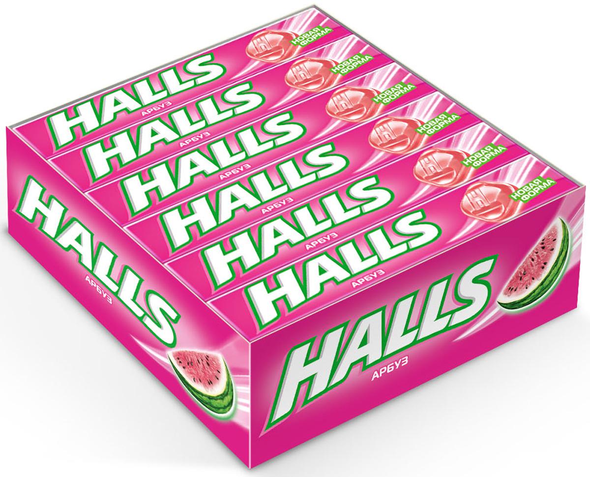 Halls карамель леденцовая со вкусом арбуза, 12 пачек по 25 г0120710В напряженные моменты, когда нужна эмоциональная встряска, когда одолевает усталость, когда просто нужно перевести дыхание – попробуйте Halls и дышите свободно. Он как глоток свежего воздуха в любой ситуации, когда это необходимо – бодрит, освежает и позволяет сосредоточиться на главном. В пачке 9 леденцов.