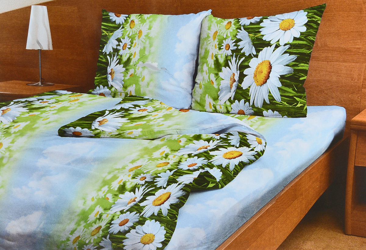 Комплект белья Amore Mio Romashki, 1,5-спальный, наволочки 70x7000000005321Комплект постельного белья Amore Mio Romashki является экологически безопасным для всей семьи, так как выполнен из бязи (100% хлопок). Комплект состоит из пододеяльника, простыни и двух наволочек. Постельное белье оформлено оригинальным рисунком и имеет изысканный внешний вид.Легкая, плотная, мягкая ткань отлично стирается, гладится, быстро сохнет. Рекомендации по уходу: Химчистка и отбеливание запрещены.Рекомендуется стирка в прохладной воде при температуре не выше 40°С.