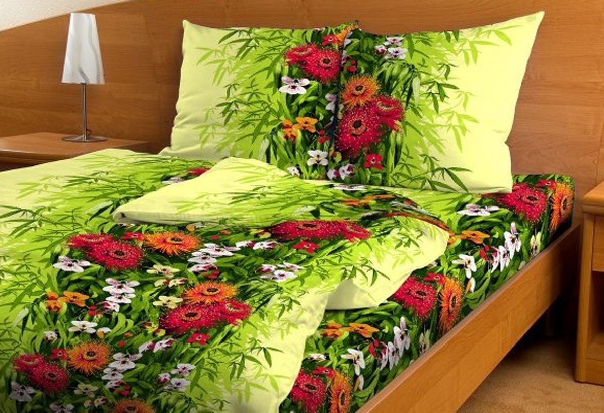 Комплект белья Amore Mio Тропикана, 1,5-спальный, наволочки 70x70FD-59Комплект постельного белья Amore Mio является экологически безопасным для всей семьи, так как выполнен из бязи (100% хлопок). Комплект состоит из пододеяльника, простыни и двух наволочек. Постельное белье оформлено оригинальным цветочным рисунком.Постельное белье из бязи практично и долговечно. Материал великолепно отводит влагу, отлично пропускает воздух, не капризен в уходе, легко стирается и гладится.