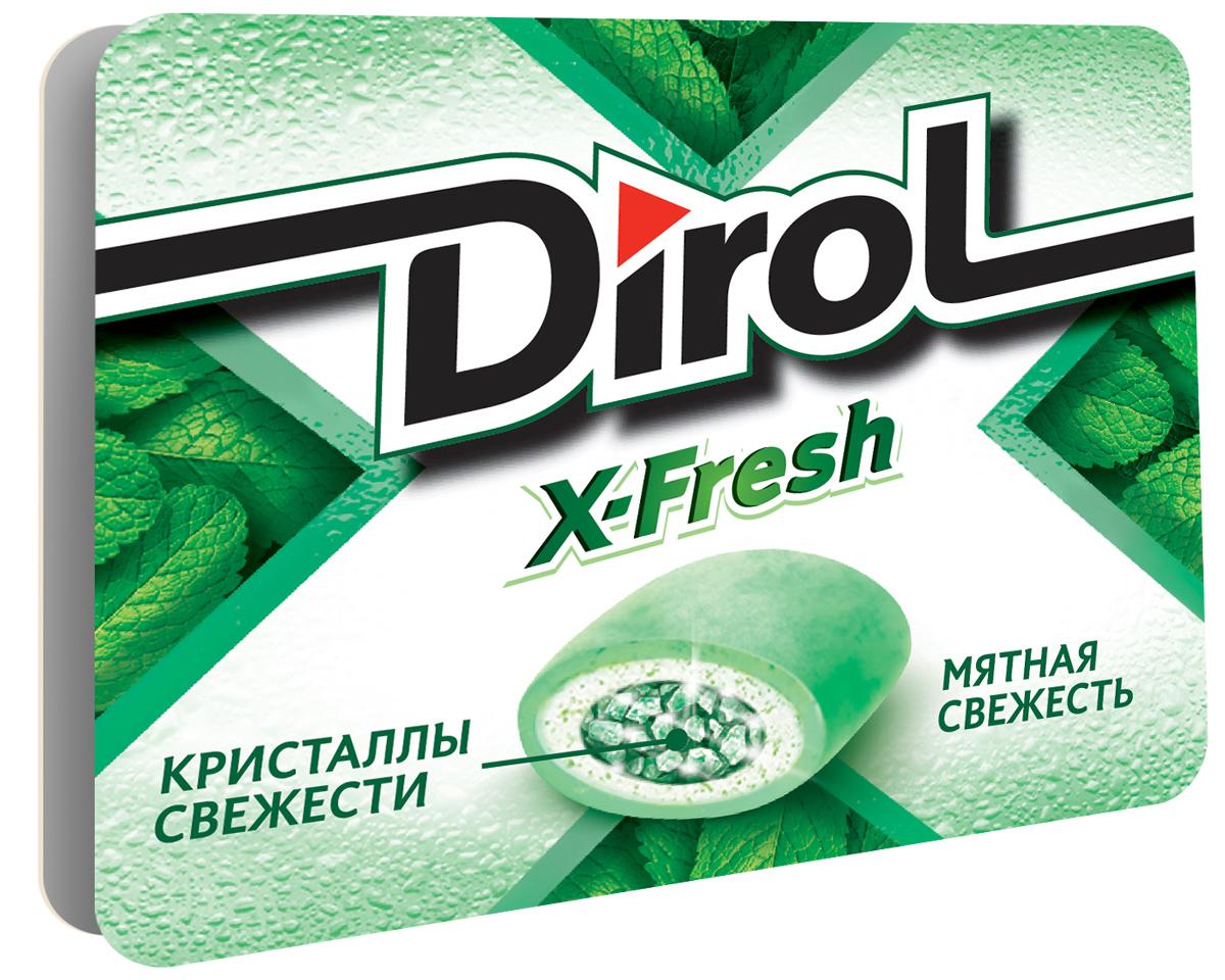 Dirol X-Fresh Мятная свежесть жевательная резинка без сахара, 16 г0120710Dirol X-Fresh Мятная свежесть - популярная жевательная резинка. Обладает ярко выраженным долгим вкусом. Общеизвестно, что древние греки использовали смолу мастичного дерева или пчелиный воск, чтобы освежить дыхание и очистить зубы от остатков еды. Племена Майя наслаждались жеванием каучука. На севере Америки индейцы наслаждались подобием жевательной резинки - смолы хвойных деревьев, предварительно выпаренной на костре. В Сибири пользовалась популярностью сибирская смолка, с её помощью чистили зубы и укрепляли десны. В Европе зарождение жевательной культуры обозначено в 16 веке благодаря завезенному из Вест-Индии табаку. Затем жвачка появилась в Соединенных Штатах. Вплоть до 19 века попытки внедрить воск, парафин вместо жевательного табака терпели крах.