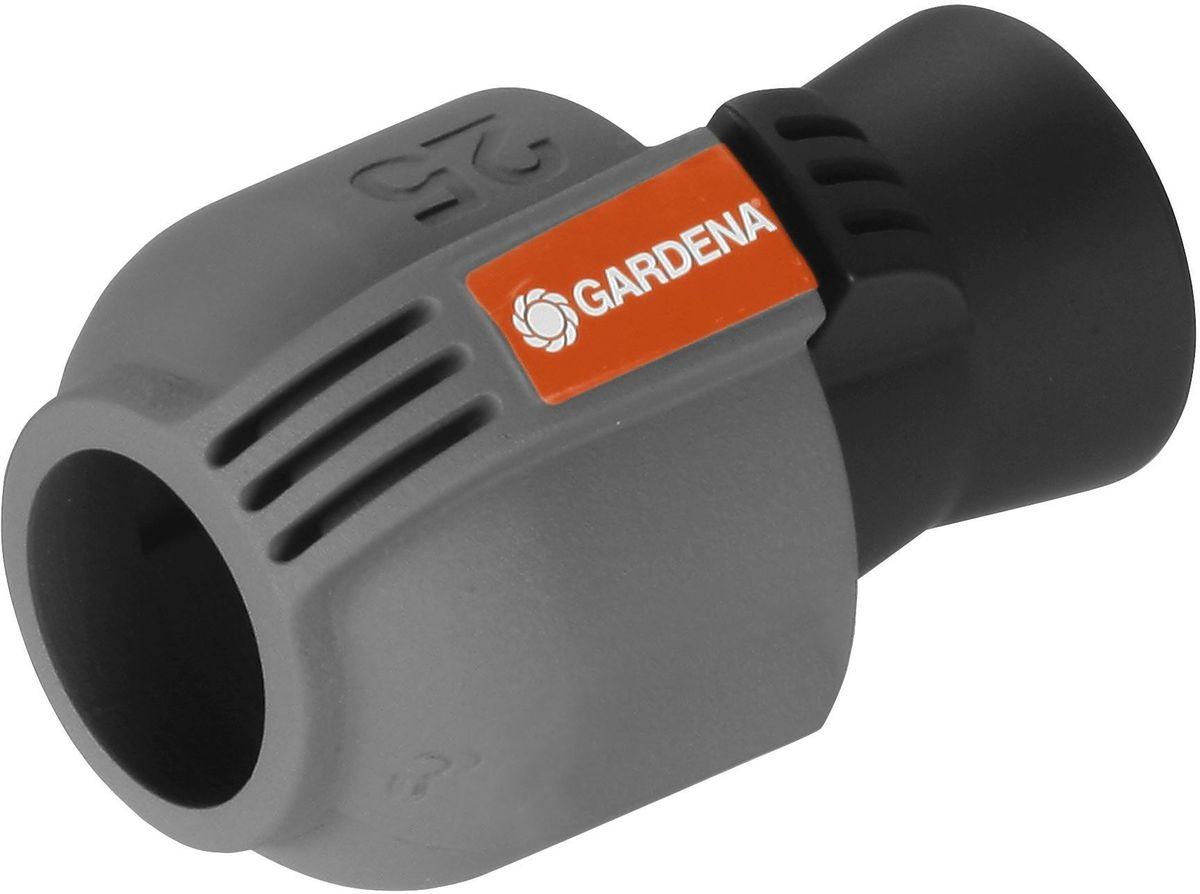 Колонка со спиральным шлангом Gardena, 10 м. 02761-20.000.00106-026Соединитель GARDENA 25 мм x 3/4-внутренняя резьба - как составная часть дождевательной системы GARDENA - служит для подключения шланга к входной колонке GARDENA (арт. 2722-20), водозаборной колонке (арт. 8250-20), центральному фильтру (арт. 1510-20) или выдвижному дождевателю S 80/300 (арт. 1566-29). С помощью этого соединителя система полива также может быть напрямую подключена к домашнему водопроводу. Благодаря запатентованной технологии быстрого соединения Quick & Easy (Быстро и просто) монтаж и демонтаж трубопровода осуществляется без инструментов путем простого поворота завинчивающегося фитинга на 140°. Для безопасной работы и достижения водонепроницаемости резьбовое соединение соединителя является самогерметизирующимся.