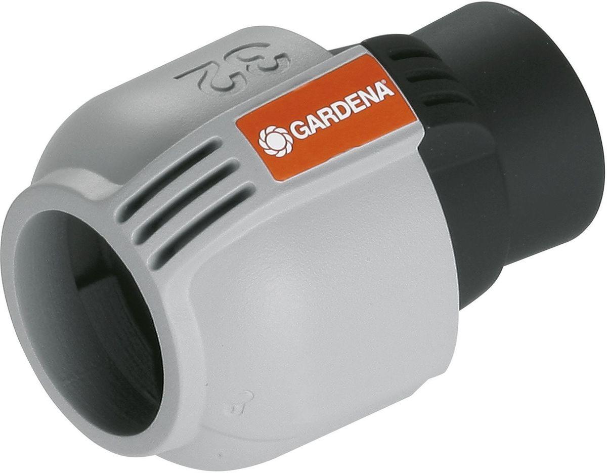 Соединитель Gardena, внутренняя резьба 32 мм x 3/402767-20.000.00Соединитель Gardena предназначена для подсоединения водопровода Gardena к входной колонке, водозаборной колонке, крану запорному, центральному фильтру, а так же выдвижному дождевателю S 80/300. Также для прямого подсоединения системы полива к домашнему водопроводу. технология быстрого подсоединения Quick & Easy. Имеет самоуплотняющееся резьбовое соединение.