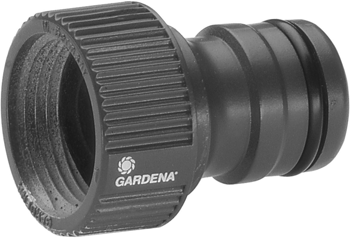 Штуцер Gardena Профи, 3/4106-026Штуцер резьбовой Gardena Профи оптимально подходит для наращивания шлангов, а также может использоваться с насосами. Он позволяет подсоединять шланг с коннектором к водопроводному крану. Штуцер просто навинчивается на кран. Подходит для кранов с резьбой 26,5 мм (G 3/4 дюйма).
