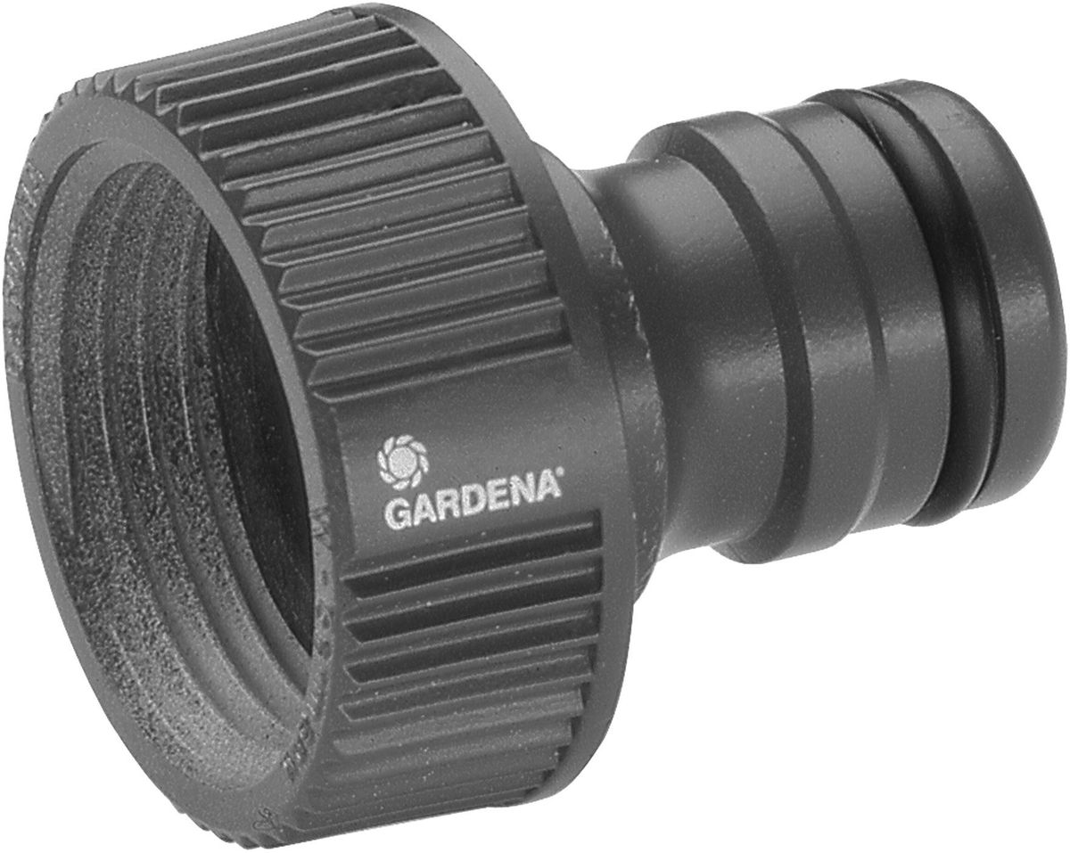 Штуцер Gardena Профи, 1106-026Штуцер резьбовой Gardena Профи оптимально подходит для наращивания шлангов, а также может использоваться с насосами. Он позволяет подсоединять шланг с коннектором к водопроводному крану. Штуцер легко навинчивается на водопроводный кран. Штуцер предназначен для водопроводных кранов с резьбой 33,3 мм (G 1 дюйм), а также многих насосов Gardena.
