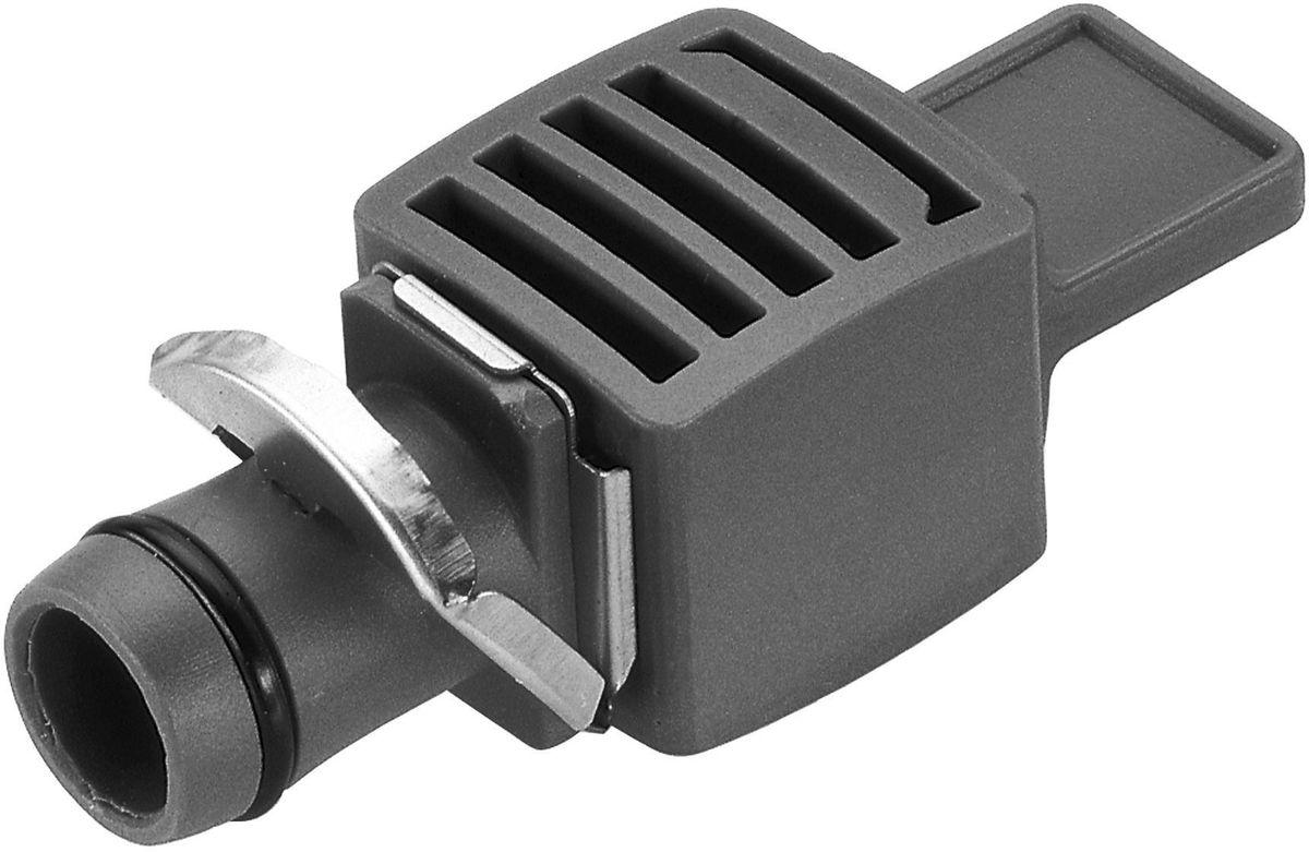Заглушка Gardena, 13 мм (1/2), 5 шт08324-29.000.00Заглушка Gardena выполнена из высококачественного пластика и металла. Она является элементом системы микрокапельного полива Gardena Micro-Drip-System и предназначена для закрытия магистрального канала. Благодаря патентованной технологии быстрого подсоединения Quick & Easy, установка заглушки чрезвычайно проста. В комплект поставки входят пять заглушек.