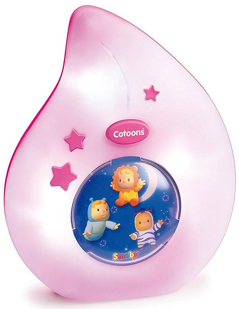 Smoby Музыкальная игрушка-подвеска Cotoons с ночником цвет белый розовый smoby ночник кукла свет звук smoby