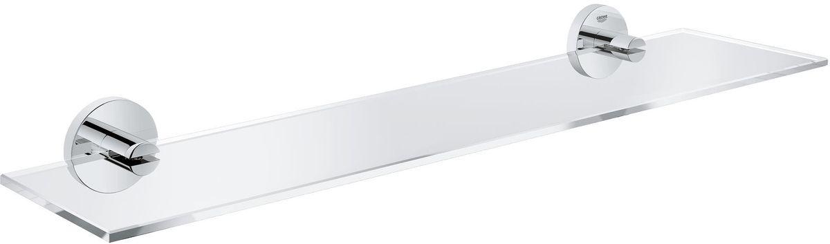 Полка для ванной комнаты Grohe Essentials391602Навесная полка Grohe Essentials сэкономит место в вашей ванной комнате. Она пригодится для хранения различных принадлежностей, которые всегда будут под рукой. Благодаря компактным размерам полка впишется в интерьер ванной комнаты и позволит удобно и практично хранить предметы личной гигиены. Длина полки: 53 см. Ширина полки: 12,5 см.