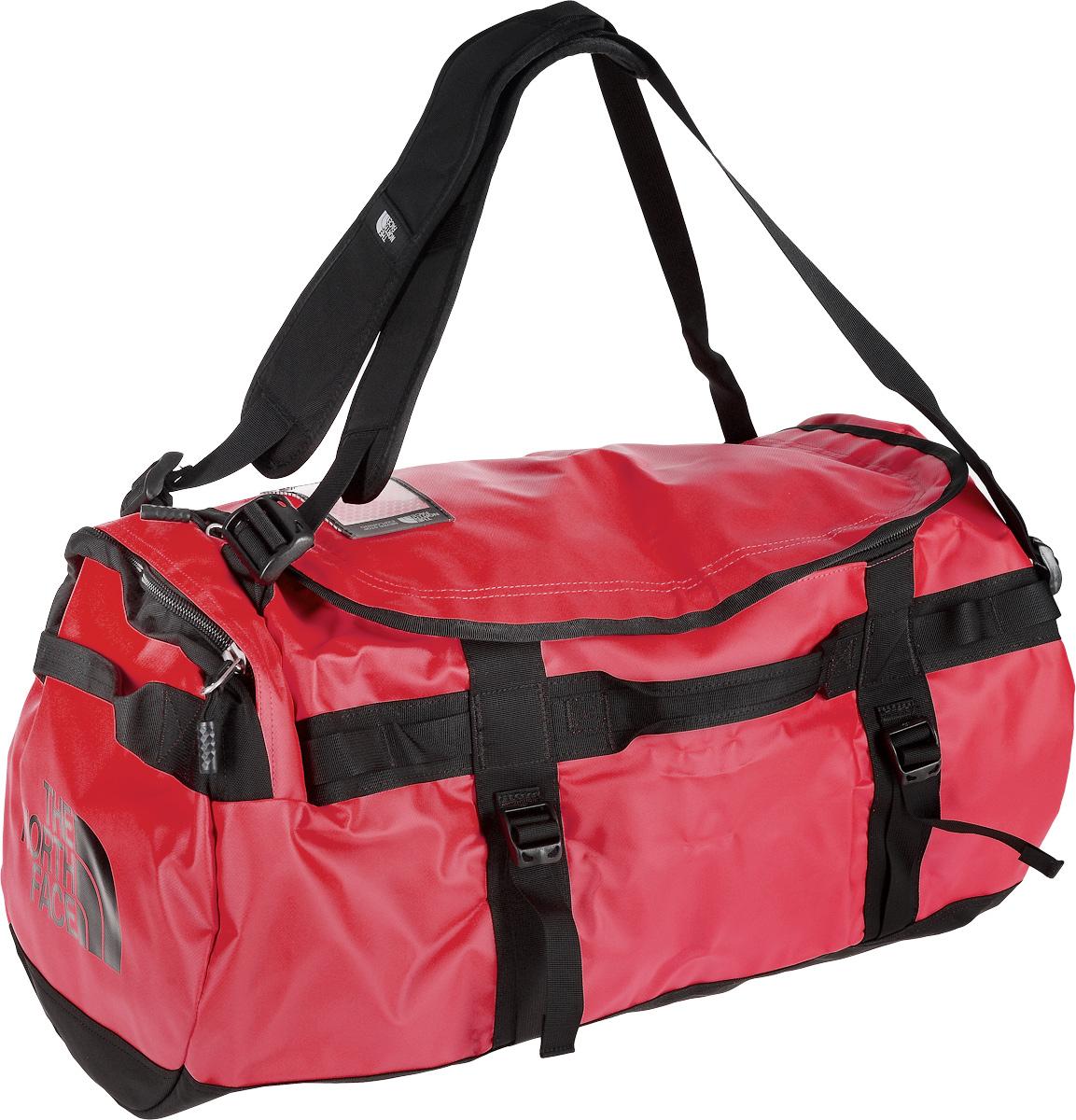 Сумка-рюкзак The North Face, цвет: красный, черный, 71 л. CWW2_KZ3Костюм Охотник-Штурм: куртка, брюкиУдобная экспедиционная сумка-рюкзак The North Face, вместительная модель, которая подойдет на любой жизненный случай. Изготовлена модель из сочетания водонепроницаемого баллистического нейлона и полиэстера с TPE ламинированием. Корпус изделия укреплен поперечными лентами с двойной отстрочкой и по бокам четырьмя лентами для утяжки.Модель имеет улучшенные эргономичные плечевые лямки, новые укрепленные боковые ручки, которые позволяют с удобством переносить или тащить тяжелые грузы. Основное отделение сумки застегивается на U-образную молнию с защитой от влаги. Также изделие оснащено дополнительным боковым карманом на молнии с внутренним сетчатым кармашком. Верхняя крышка сумки дополнена небольшим отделением для бейджа с персональными данными, а с внутренней стороны имеет карман на молнии из сетчатой ткани. Оформлена модель износостойким принтом с логотипом бренда.