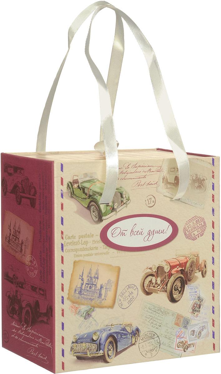 Коробка подарочная Magic Home Ретро-машины, квадратная, 16 х 16 х 8 см краски для волос garnier стойкая крем краска для волос color sensation роскошь цвета оттенок 6 0 роскошный темно русый