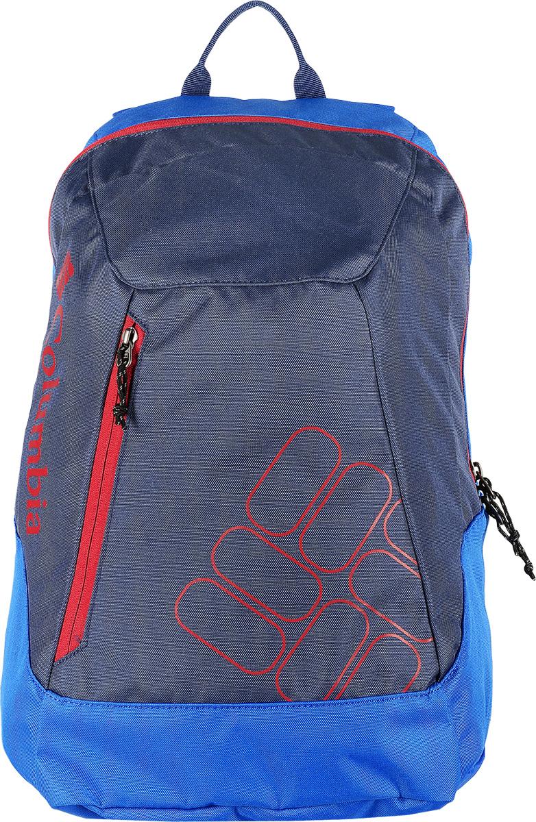 Рюкзак Columbia Quickdraw Daypack, цвет: синий, темно-синий. 1587591-44123008Стильный городской рюкзак Columbia Quickdraw Daypack выполнен из плотного полиэстера. Изделие имеет одно основное отделение, которое закрывается на застежку-молнию.Снаружи, на передней стенке расположен небольшой втачной карман на застежке-молнии.Рюкзак оснащен широкими мягкими регулирующими лямками и удобной ручкой для переноски в руках. Уплотненная мягкая спинка обеспечивает комфорт во время носки.Такой рюкзак станет незаменимым как в повседневной жизни, так и в спорте.