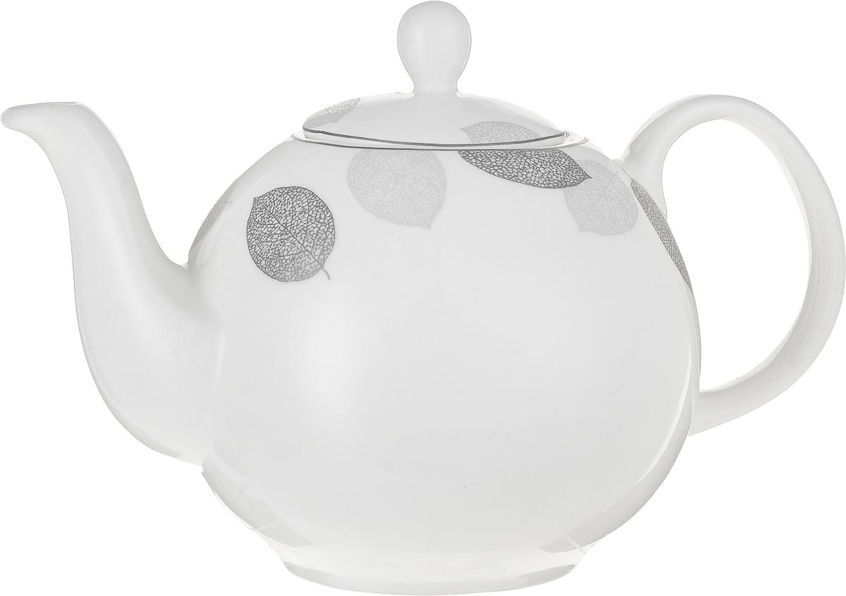 Чайник заварочный Esprado Bosqua Platina, 1,22 л115510Чайник заварочный Esprado Bosqua Platina изготовлен из высококачественного костяного фарфора с глазурованным покрытием, которое обеспечивает легкую очистку. Изделие прекрасно подходит для заваривания вкусного и ароматного чая, а также травяных настоев. Оригинальный дизайн сделает чайник настоящим украшением стола. Он удобен в использовании и понравится каждому.Можно мыть в посудомоечной машине и использовать в микроволновой печи. Диаметр чайника (по верхнему краю): 7,5 см. Высота чайника (без учета крышки): 12 см. Высота чайника (с учетом крышки): 16 см.