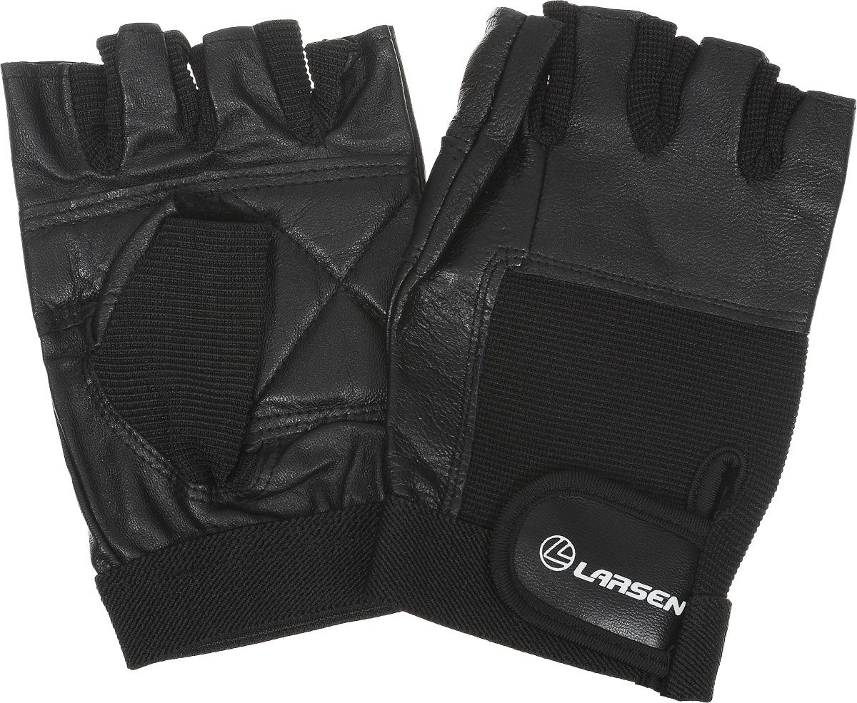 Перчатки для фитнеса Larsen  NT506 , цвет: черный. Размер XL - Одежда, экипировка