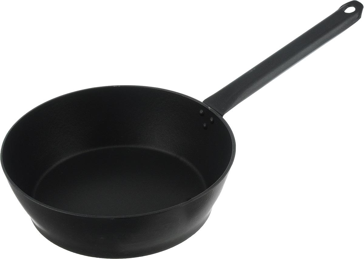 Сковорода Алита Надежда, c антипригарным покрытием. Диаметр 24 см. 1700168/5/4Сковорода Алита Надежда изготовлена из литого алюминия с двухсторонним антипригарным покрытием. Благодаря такому покрытию, пища не пригорает и не прилипает к стенкам, готовить можно с минимальным количеством масла и жиров. Сковорода оснащена удобной металлической ручкой. А гладкая поверхность обеспечивает легкость ухода за посудой. Подходит для использования на всех типах плит, кроме индукционных.Диаметр сковороды (по верхнему краю): 24 см.Высота стенки: 7,5 см.Длина ручки: 23 см.