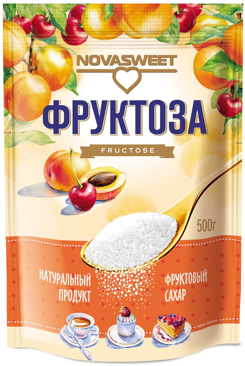 Novasweet фруктоза, 500 г00-00000041Фруктоза NOVASWEET - натуральный фруктовый сахар - используется в домашней кулинарии, в напитках, молочных продуктах, при консервирование овощей и фруктов, для приготовления выпечки, варенья, фруктовых салатов, мороженого и десертов. 100% натуральный продукт обладает приятным вкусомусиливает вкус и аромат фруктов и ягод снижает калорийность блюдодин из самых безопасных видов сахаров низкий гликемический индекс (ГИ=19 единиц)*, т. е.- не вызывает резкого повышения уровня глюкозы в крови человека- медленные углеводы (медленное высвобождение энергии) рекомендована для диетического и диабетического питания