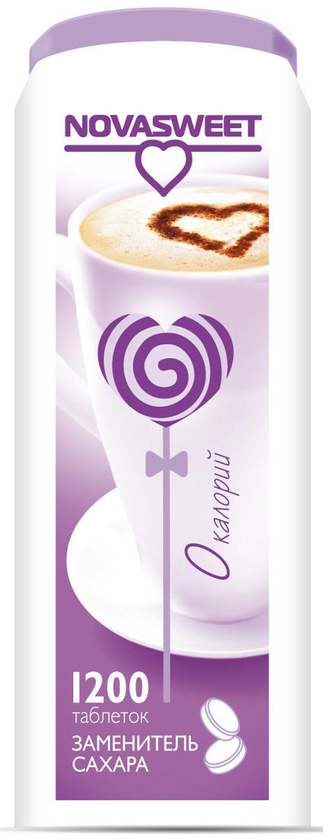 Novasweet столовый подсластитель в таблетках, 1200 шт5847Заменитель сахара NOVASWEET используется для подслащивания низкокалорийных блюд. Рекомендован для диетического и диабетического питания.