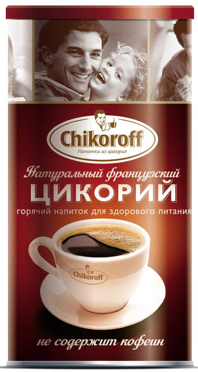 Chikoroff цикорий натуральный порошкообразный растворимый, 110 г0120710Горячий напиток для здорового питания, изготовленный из 100% корней цикория, выращенных и обработанных по уникальной технологии производства компании LEROUX (Франция).52 % инулина.Преимущества: Не содержит кофеин, не повышает артериальное давлениеСодержит инулин - растительное пищевое волокно (в 1 порции 52% инулина от суточной норы), которое:- улучшает микрофлору кишечника- стимулирует рост и активность полезных бифидобактерий- улучшает усвоение организмов кальцияСодержит витамины и минералыРазрешается использовать в питании детей школьного возрастаНе содержит ГМОБез глютена