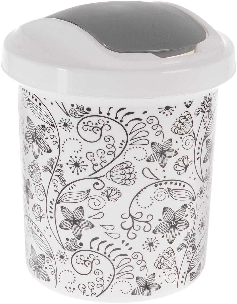 Контейнер для мусора Svip Ориджинал. Кружева, 12 лSZ-14Мусорный контейнер Svip Ориджинал. Кружева поможет поддержать порядок и чистоту на кухне, в туалетной комнате или в офисе. Изделие, выполненное из полипропилена, оформлено цветочным узором. Изделие оснащено крышкой с двойным механизмом открывания, что обеспечивает максимально удобное использование: откидной крышкой можно воспользоваться при выбрасывании большого мусора, крышкой-маятником - для мусора меньшего объема. Скрытые борта в корпусе изделия для аккуратного использования одноразовых пакетов и сохранения эстетики изделия. Съемная верхняя часть контейнера обеспечивает удобство извлечения накопившегося мусора. Эстетика изделия превращает необходимый предмет кухни или туалетной комнаты в стильное дополнение к интерьеру. Его легкость и прочность оптимально решают проблему сбора мусора.