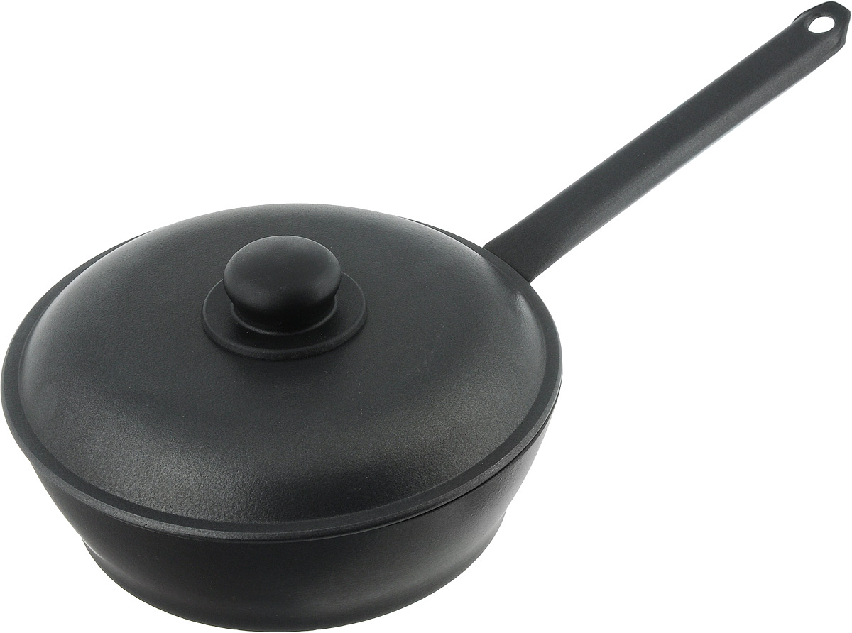 Сковорода Алита Надежда с крышкой, с антипригарным покрытием. Диаметр 24 см. 1790117901Сковорода Алита Надежда изготовлена из литого алюминия с двухсторонним антипригарным покрытием. Благодаря такому покрытию, пища не пригорает и не прилипает к стенкам, готовить можно с минимальным количеством масла и жиров. Гладкая поверхность обеспечивает легкость ухода за посудой.Сковорода оснащена удобной металлической ручкой и крышкой с пластиковой ручкой.Подходит для использования на всех типах плит, кроме индукционных.Диаметр сковороды (по верхнему краю): 24 см.Высота стенки: 7 см.Длина ручки: 23 см.