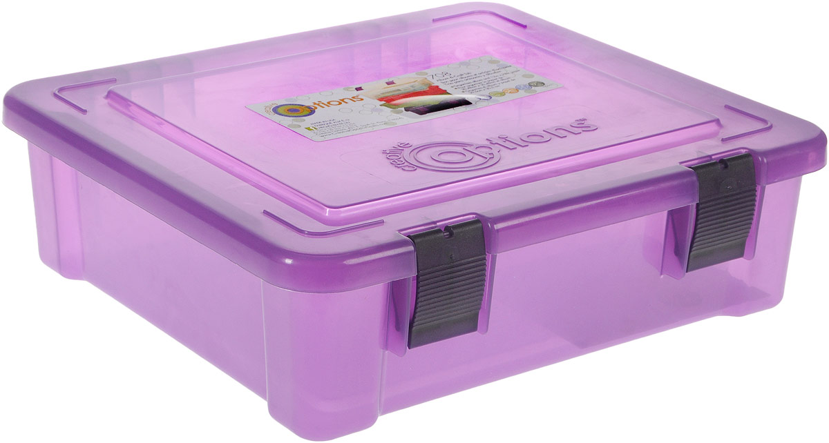 Органайзер для бумаг Creative Options, цвет: фиолетовый, 43,7 х 39,2 х 13,3 см1004900000360Органайзер для бумаг Creative Options, изготовленный из прочного пластика, предназначен для хранения бумаг форматом А4. Большой размер и вместительность делает органайзер универсальным: в нем также можно хранить различные принадлежности и мелочи. Крышка плотно закрывается на два замка-защелки. Такой органайзер поможет держать бумаги и вещи в порядке.