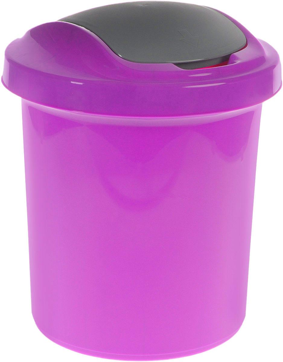 Контейнер для мусора Svip Ориджинал, цвет: фиолетовый, серый, 12 лVCA-00Мусорный контейнер Svip Ориджинал поможет поддержать порядок и чистоту на кухне, в туалетной комнате или в офисе. Контейнер выполнен из полипропилена. Изделие оснащено крышкой с двойным механизмом открывания, что обеспечивает максимально удобное использование: откидной крышкой можно воспользоваться при выбрасывании большого мусора, крышкой-маятником - для мусора меньшего объема. Скрытые борта в корпусе изделия для аккуратного использования одноразовых пакетов и сохранения эстетики изделия. Съемная верхняя часть контейнера обеспечивает удобство извлечения накопившегося мусора. Эстетика изделия превращает необходимый предмет кухни или туалетной комнаты в стильное дополнение к интерьеру. Его легкость и прочность оптимально решают проблему сбора мусора.