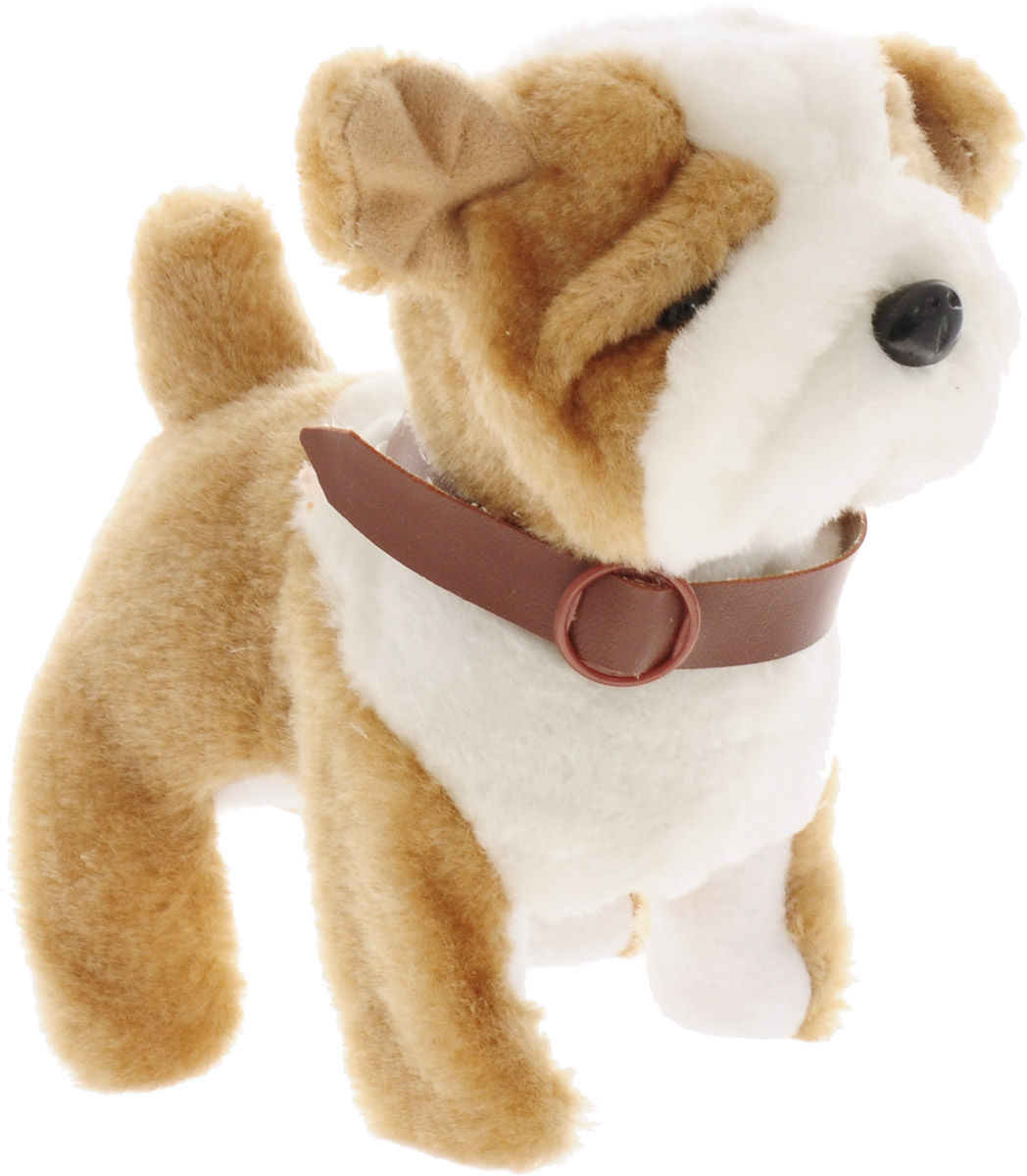 Sonata Style Анимированная мягкая игрушка Собачка цвет белый бежевый sonata style собачка gt9041 на р у ходит лает виляет хвостом на батарейках tm sonata style