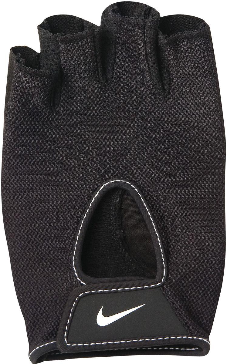 Перчатки тренировочные женские Nike Wmns Fundamental Training Gloves II, цвет: черный. Размер LSF 0085Перчатки тренировочные женские Nike Wmns Fundamental Training Gloves II выполнены из высококачественного материала. Регулируемая застежка на запястье обеспечивает надежную посадку. Трафаретная печать swoosh-лого на внешней стороне модели обеспечивает моментальную идентификацию бренда. Внутренняя часть перчаток выполнена из искусственной замши, что обеспечивает комфорт и долговечность в использовании данного аксессуара.