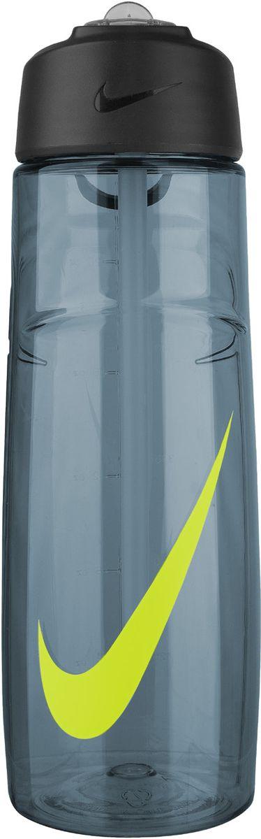 Бутылка для воды Nike  T1 Flow Swoosh Water Bottle 24oz , цвет: серый, желтый, 709 мл - Шейкеры