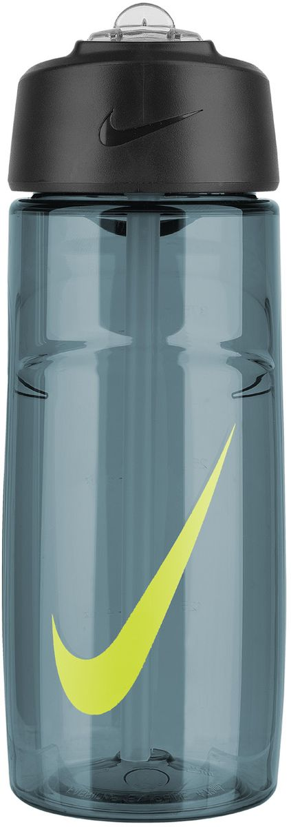 Бутылка для воды Nike  T1 Flow Swoosh Water Bottle 16oz , цвет: серый, желтый, 473 мл - Шейкеры