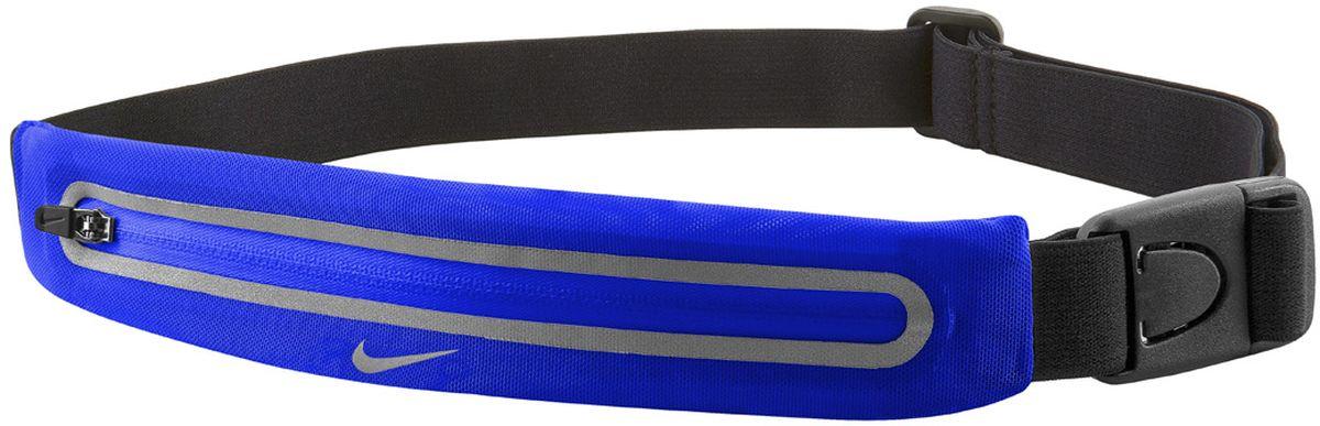 Сумка для бега Nike Lean Waistpack, цвет: синий, черныйN.RL.46.443.OSСумка для бега Nike Lean Waistpack изготовлена из высококачественного материала. У сумки один передний карман на застежке-молнии. Суперэластичный пояс не смещается даже при беге и прыжках. Пояс отлично тянется, обеспечивая максимальный комфорт при беге. Застежка позволяет быстро снимать и надевать сумку. Светоотражающие детали повышают видимость при слабом освещении.Длина молнии: 18,5 см.Ширина кармана: 7 см.