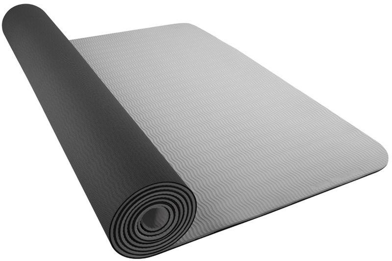 Коврик для йоги Nike Yoga Mat 5mm, цвет: темно-серый, светло-серый1125140Коврик для йоги Nike- это современный, удобный и компактный аксессуар для занятий фитнесом и йогой в группах или домашних условиях. Нескользящая поверхность обеспечивает комфорт при выполнении упражнений. В процессе занятий коврик не растягивается и не теряет формы. Мягкая, бархатистая на ощупь поверхность коврика создает ощущение дополнительного комфорта и предотвращает скольжение рук и ног во время занятий. Прочный и упругий материал не растягивается, легко моется. Коврик компактный, хранится в свернутом виде. Шнурок для переноски обеспечивает комфортную транспортировку.